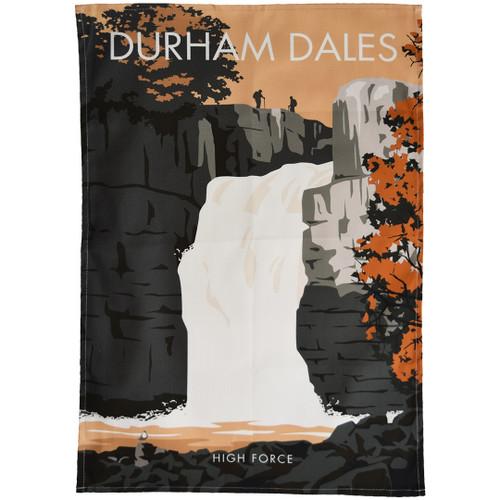 Durham Dales - High Force tea towel