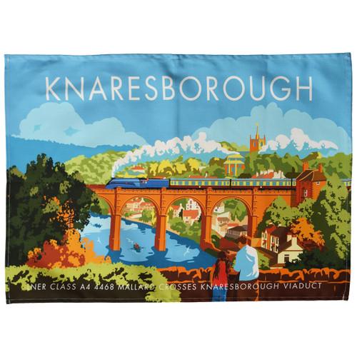 Knaresborough Viaduct tea towel