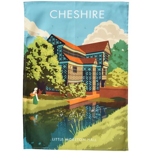 Cheshire - Little Moreton Hall tea towel