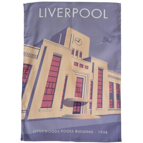 Liverpool - Littlewoods Pools Building tea towel
