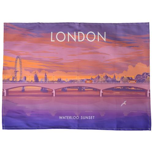 London - Waterloo Sunset tea towel