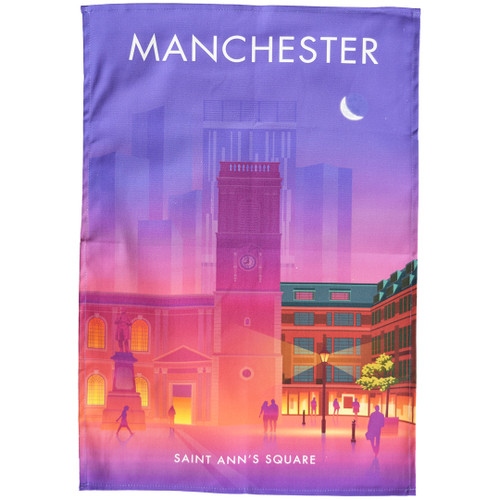 Manchester - Saint Ann's Square tea towel