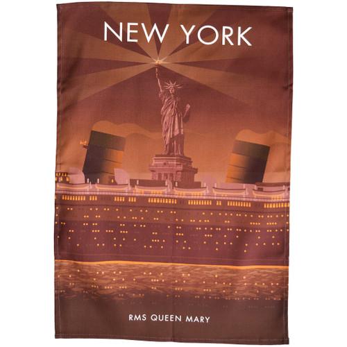 New York - RMS Queen Mary tea towel