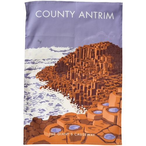 County Antrim - the Giant's Causeway tea towel