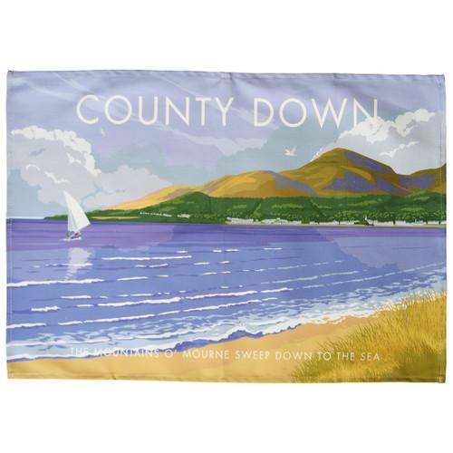 County Down - Mountains o' Mourne tea towel