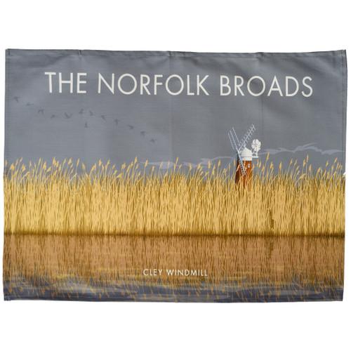 Norfolk Broads - Cley Windmill tea towel