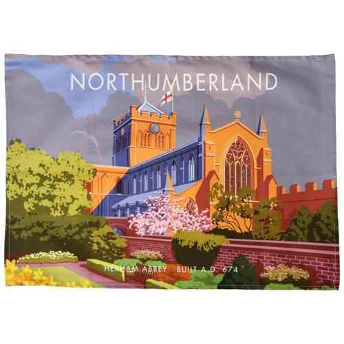 Northumberland - Hexham Abbey tea towel
