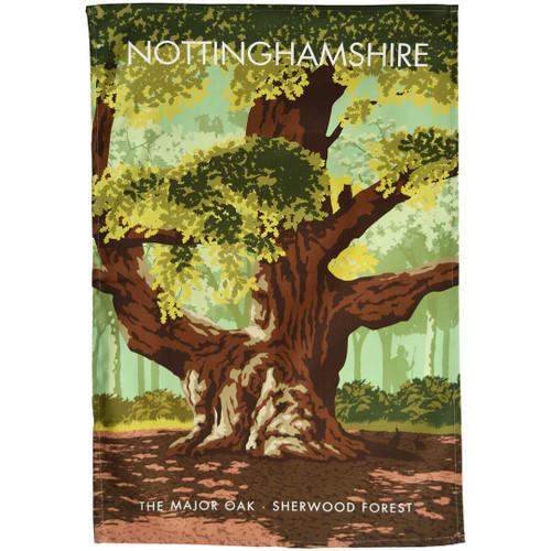 Nottinghamshire - the Major Oak, Sherwood Forest tea towel