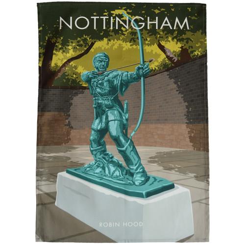 Nottingham - Robin Hood Statue tea towel