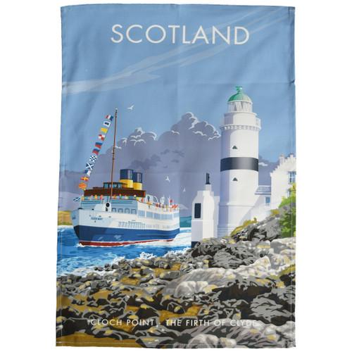 Scotland - Cloch Point tea towel