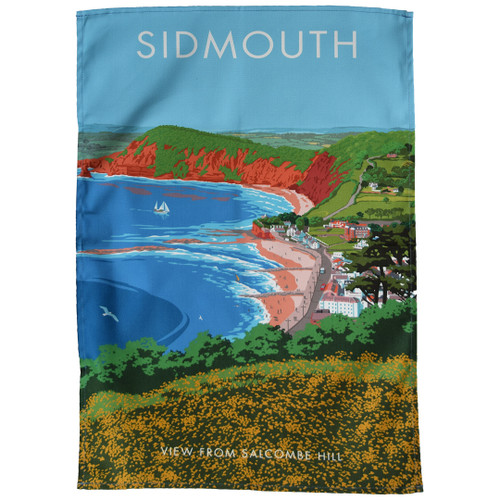 Sidmouth - View from Salcombe Hill tea towel