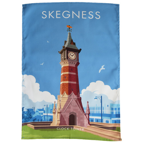 Skegness Clock Tower tea towel