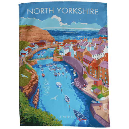 North Yorkshire - Staithes tea towel