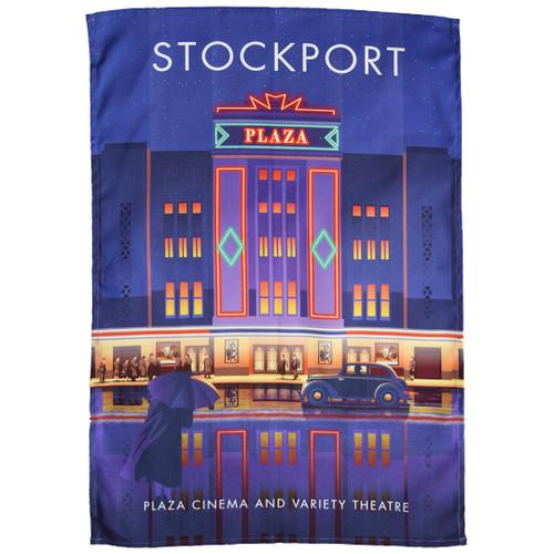 Stockport - Plaza Cinema and Variety Theatre tea towel