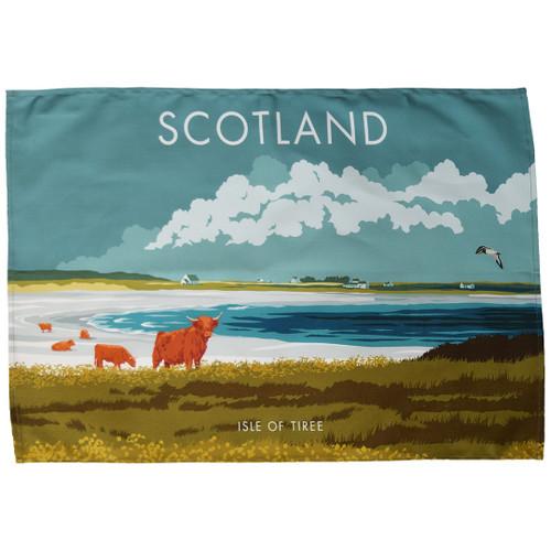 Scotland - Isle of Tiree tea towel