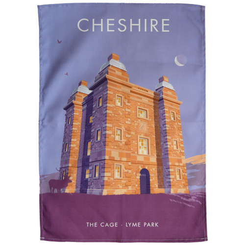 Cheshire - The Cage, Lyme Park tea towel