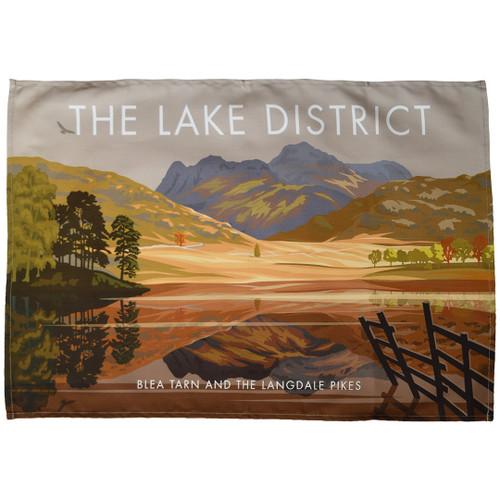 The Lake District - Blea Tarn and the Langdale Pikes tea towel