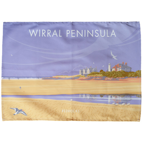 Wirral Peninsula - Redrocks tea towel