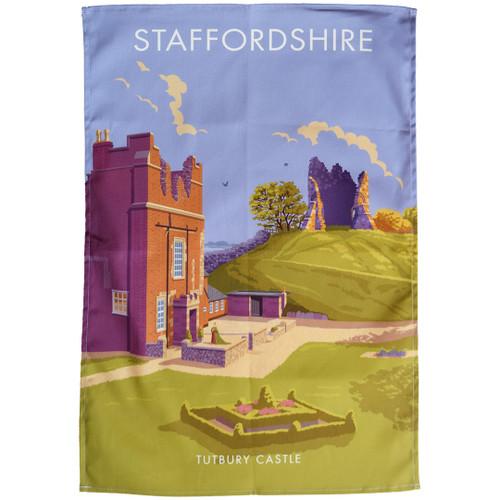 Staffordshire - Tutbury Castle tea towel