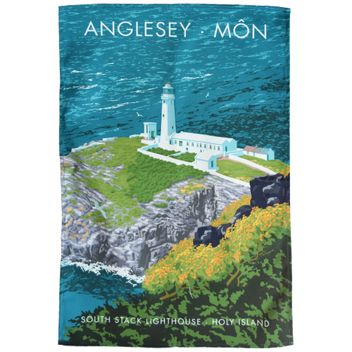 Anglesey - South Stack Lighthouse tea towel