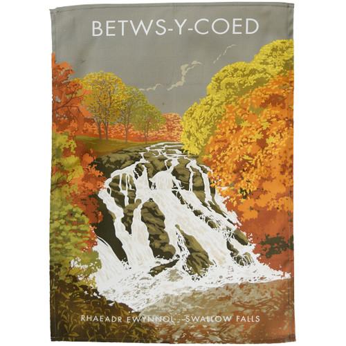 Betws-y-coed Swallow Falls tea towel