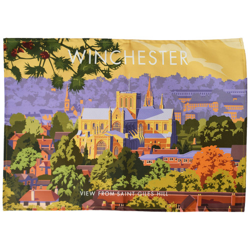 Winchester (view from St Giles Hill) tea towel