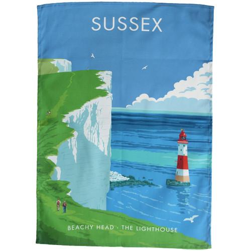 Sussex Beachy Head Lighthouse tea towel