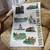 Stratford-upon-Avon Landmarks Tea Towel