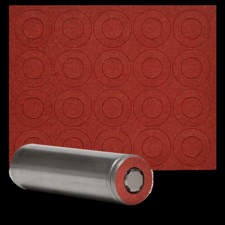 18650 Battery Terminal Insulators - 20pcs - Red Paper
