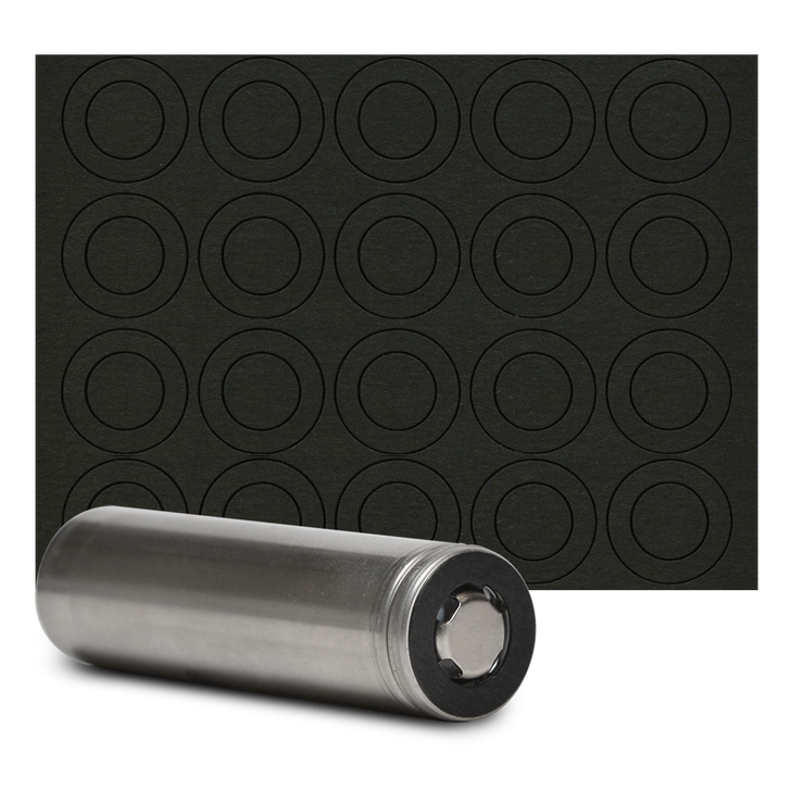 18650 Battery Terminal Insulators - 20pcs - Black Paper