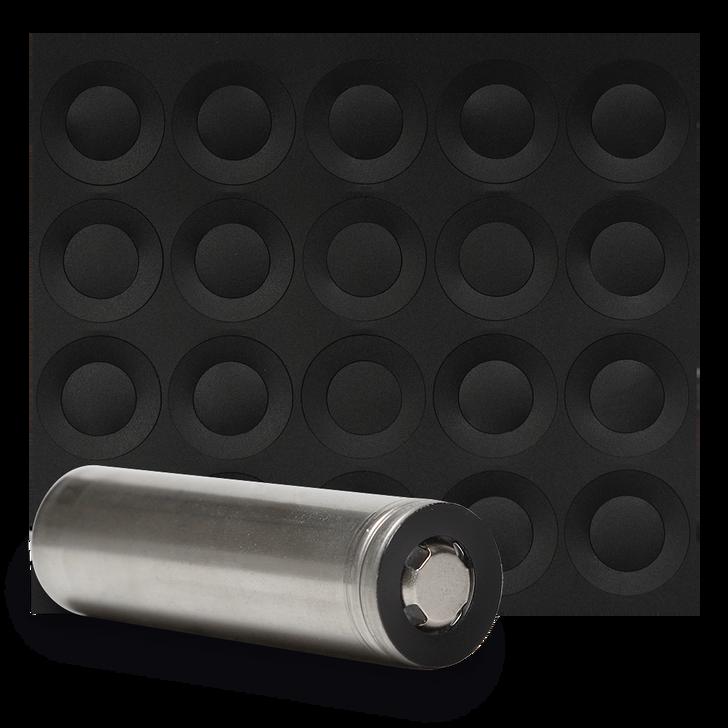 18650 Battery Terminal Insulators - 20pcs - Black Plastic