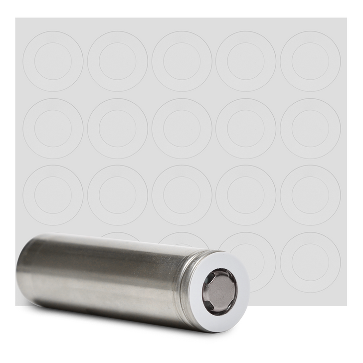 18650 Battery Terminal Insulators - 20pcs - White Plastic