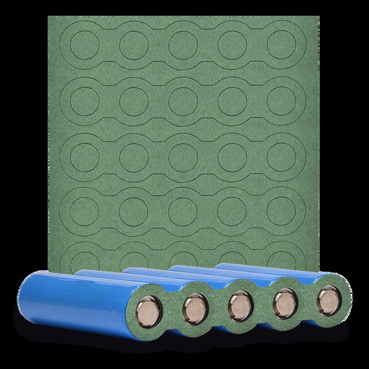 5x 18650 Battery Pack Terminal Insulator - 5pcs - Matte Green