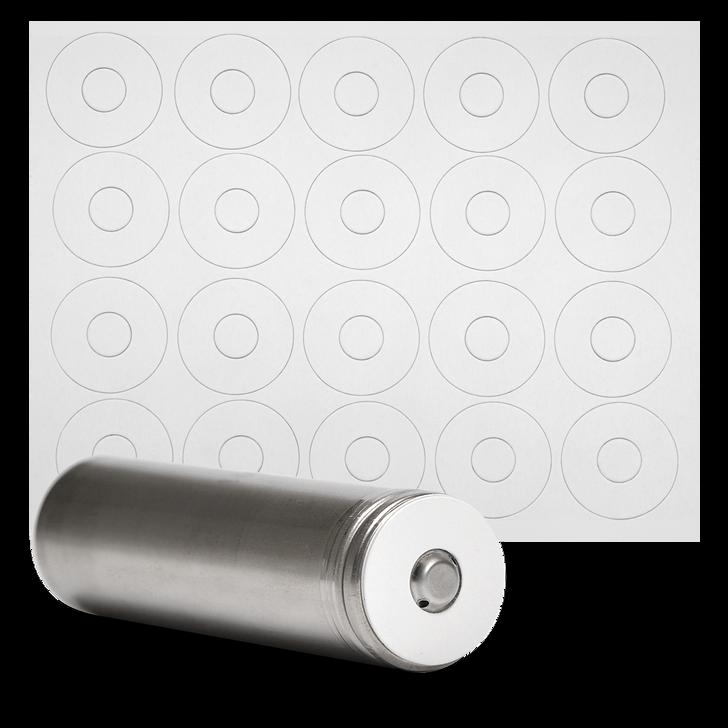 18650 Battery Terminal Insulators - 20pcs - Matte White - Button Top Paper