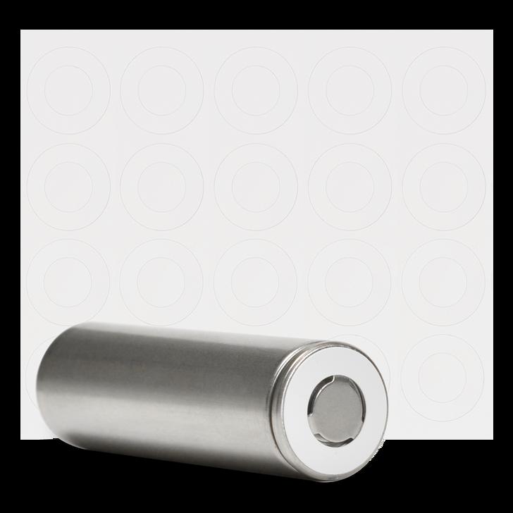 21700 Battery Terminal Insulators - 20pcs - White Paper