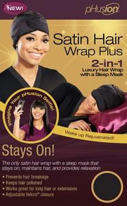 pHusion Satin Hair Wrap Plus with Sleep Mask
