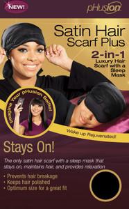 phusion Satin Hair Scarf Plus Sleep Mask