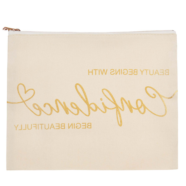Begin Beautifully Canvas Bag- Reflect the message in the mirror