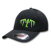 OUR VERY POPULAR ATL WHITETAIL Flexfit Ultra fiber and Mesh Cap (Black and Monster Green)