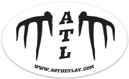 ROCK IT!  Our Whitetail ATL, ASTHEYLAY.COM OVAL STICKER!