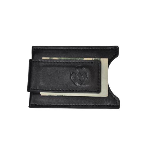 Men's Money Clip - Black Leather