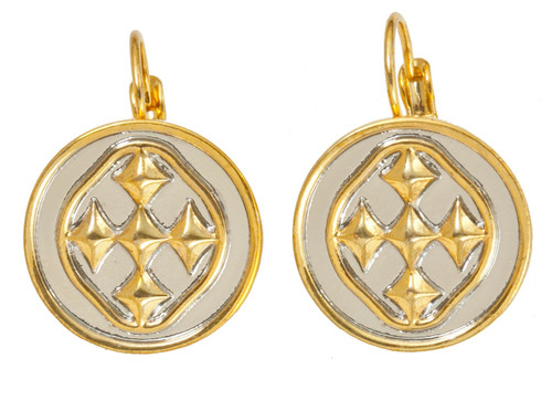 """1"""" Linked Medallion Small Coin Earrings"""