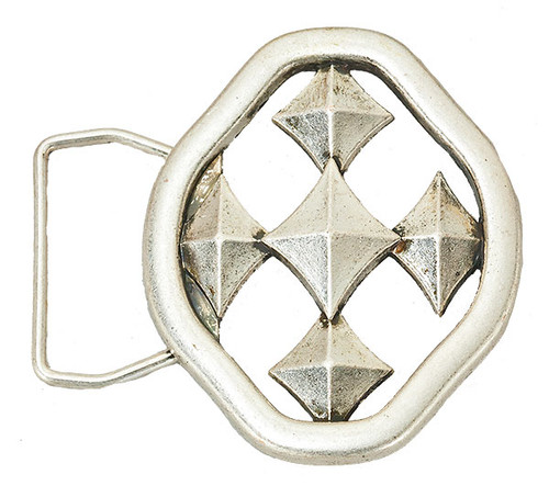 Shield of Faith Belt Buckle- Oxidized Silver Finish