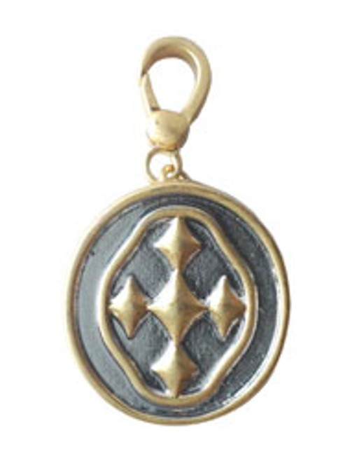 "1.5"" Two Tone Shield of Faith Charm"
