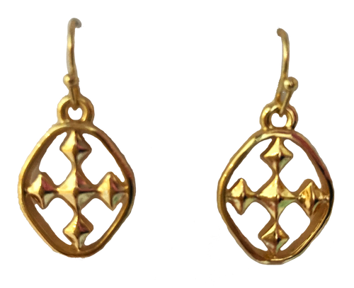 """3/4"""" Small Dangle Earrings - 18kt plated gold"""