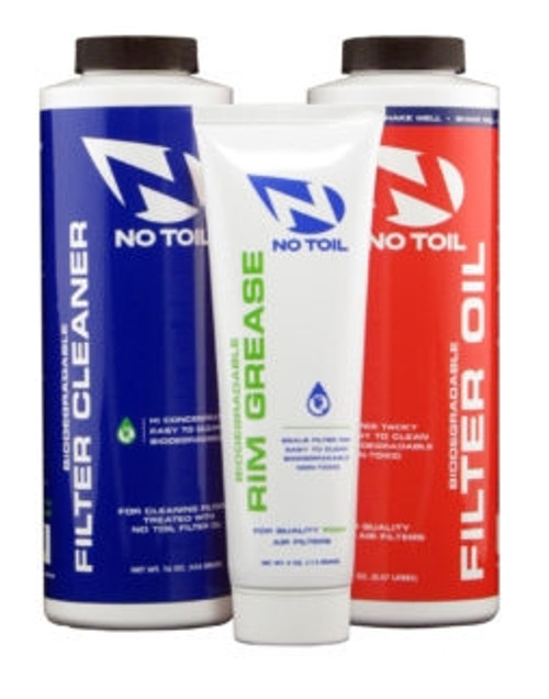 NO TOIL AIR FILTER KIT-FILTER OIL/CLEANER/RIM GREASE