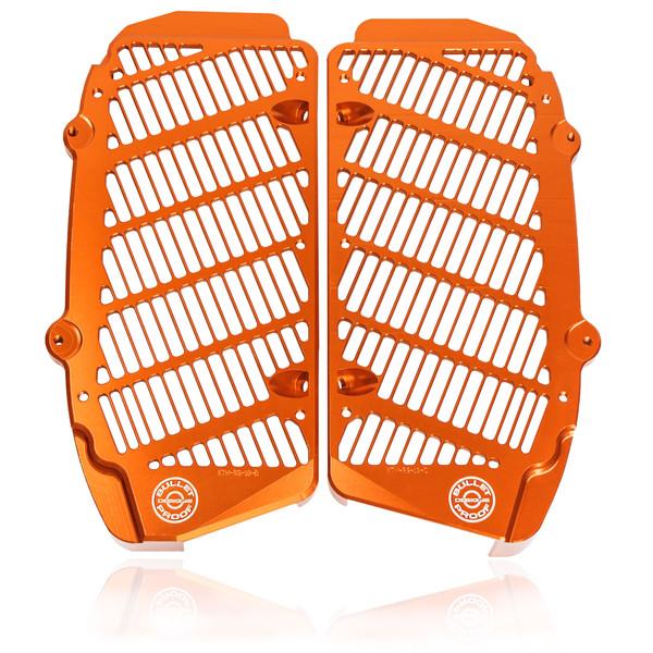 Orange Bullet Proof Designs Radiator Guards KTM-RG-19