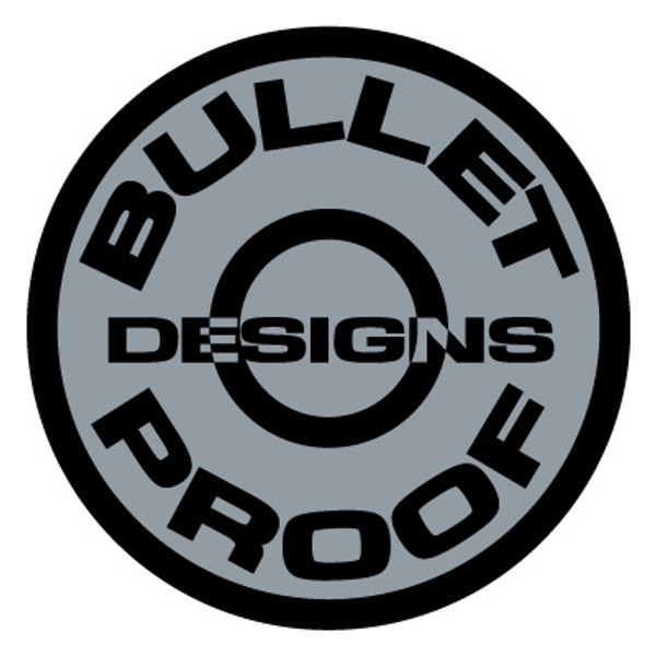 BULLET PROOF DESIGNS STICKERS 3pcs.