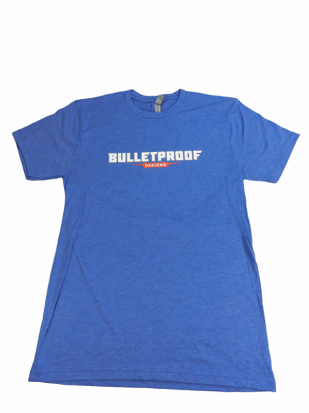 BULLET PROOF DESIGNS T-SHIRT-BLUE