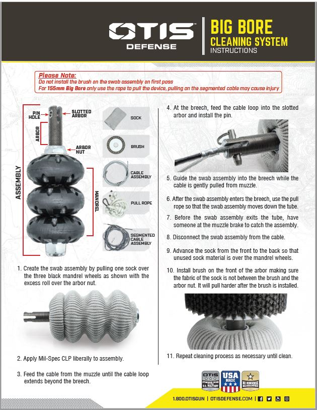 155mm Big Bore Cleaning Kit